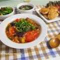 厚揚げがお肉代わり♪ヘルシートマト・茄子麻婆と鶏胸肉の焼きチキンナゲット by strawberry-macaronさん