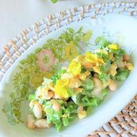 菜の花と大豆のヘルシーサラダ