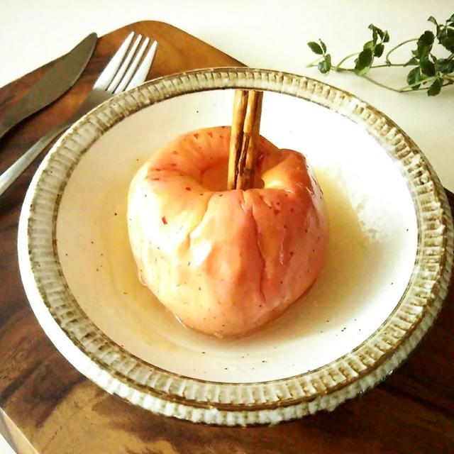 レンジで作る焼きりんご