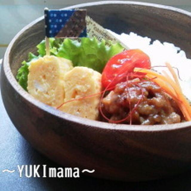 Lunch。牛バラ肉の甘辛炒め