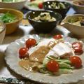 【レシピ】柔らかな茹で鶏deごま味噌ソース✳︎簡単✳︎作り置き✳︎アレンジ自在✳︎ヘルシー…野菜についてちょっと触れてみました^^