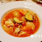 チキンと青大豆のトマト煮