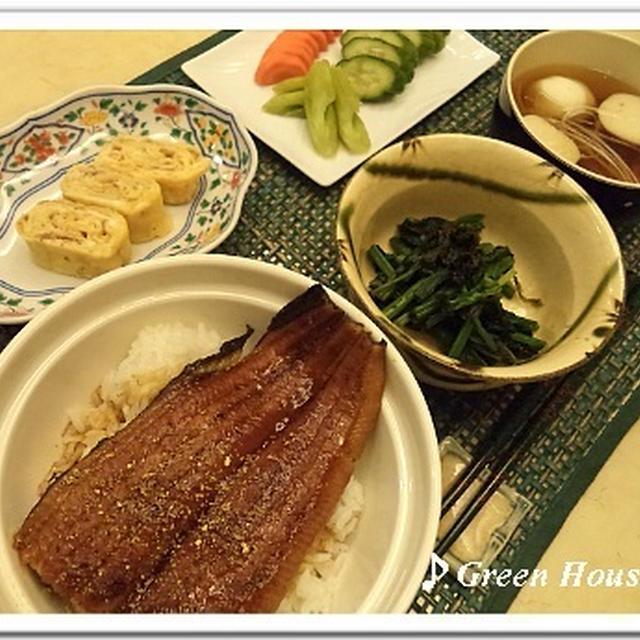 突撃!うちの晩ご飯~鰻丼・おかかとネギのだし巻き玉子
