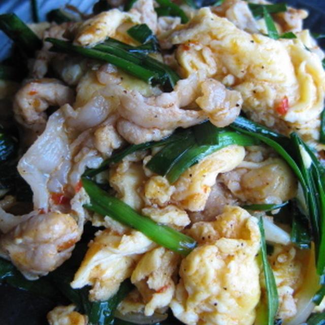 卵と余った野菜で中華炒め
