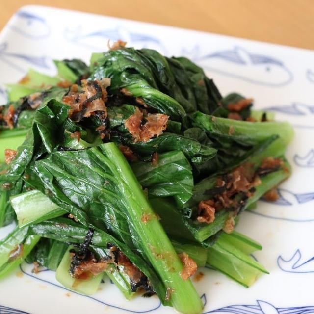 新型コロナウイルス感染症対策レシピ#002▶︎▶︎▶︎小松菜のおかか酢和え