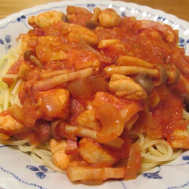 【旨魚料理】フグのトマトソースパスタ