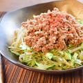 レンチン満腹。極細胡瓜もやしの驚きジャージャーサラダ(糖質8.3g) by ねこやましゅんさん