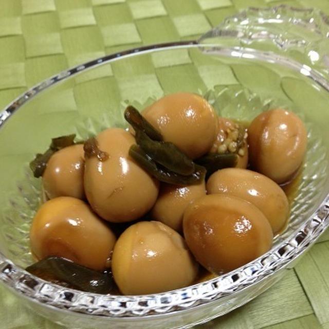 韓国料理:うずら卵の醤油煮