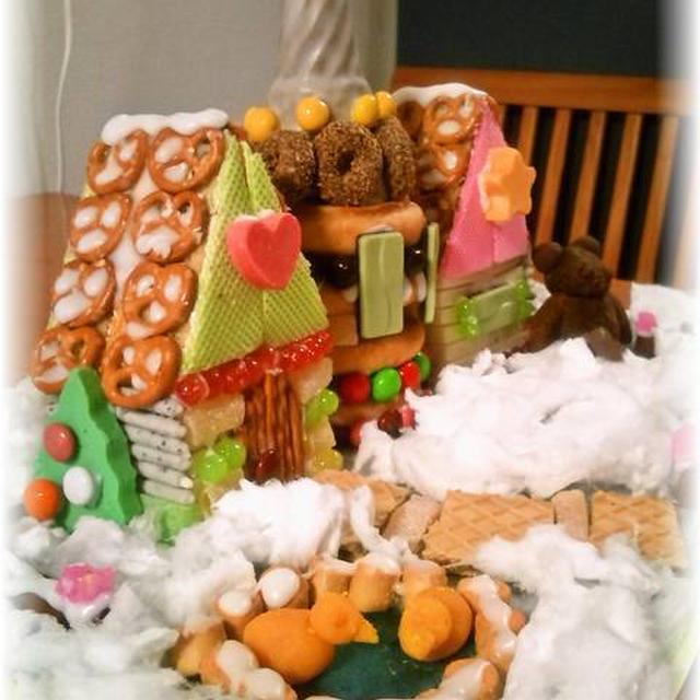 クリスマス恒例 ❁お菓子の家❁ をつくりました ~ ぜーんぶ食べられる夢のお家