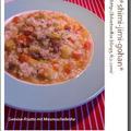 ムール貝スープの野菜リゾット