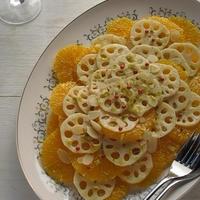 れんこんとオレンジの柚子胡椒マリネ