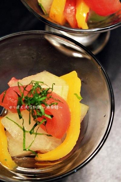 ひんやり美味しい冬瓜のレモンサラダ。