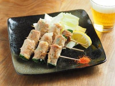 >豚しゃぶ肉でニラ巻き串焼き 、 サガテレビかちかちプレス by 筋肉料理人さん