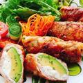 アボカド肉巻きのバルサミコ酢ソテー(動画レシピ)/Sauteed Avocado Pork rool with Balsamic vinegar.