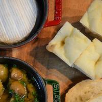 つくレポ♪ramさんのじゃが芋のフォカッチャでアヒージョ色々、伯方の塩モニターも