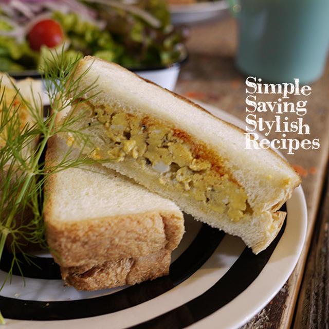 セボリーでランクUP炒り卵のサンドイッチ