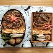 すき焼き風煮弁当、定食