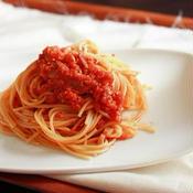 食べるイタリアンラー油でトマトソースパスタ