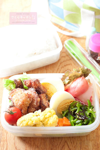 お弁当『塩麹鶏の花椒唐揚げ』
