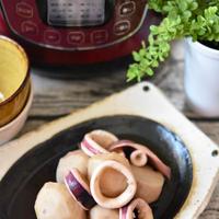 電気圧力鍋で加圧1分「里芋とイカの煮もの」|イカと里芋は時間差煮|だしの旨味