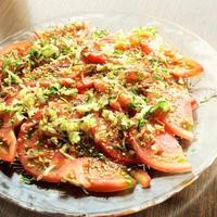 トマトの香味野菜めんつゆだれ