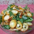 春菊とカリカリ揚げとキンカンのサラダ