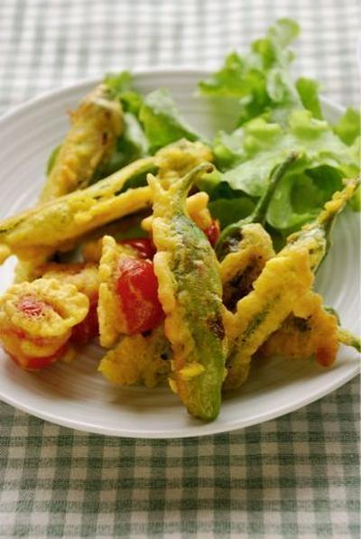 夏プチ野菜のパコラ(インド風天ぷら)
