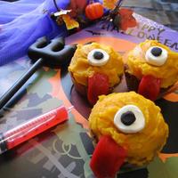 ハロウィンカップケーキ♡ベロベロベロ~ンなかぼちゃのおばけだぞ~♪
