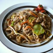 【包丁不要】豚バラ肉と炒めミックス野菜のピリ辛味噌炒め♪