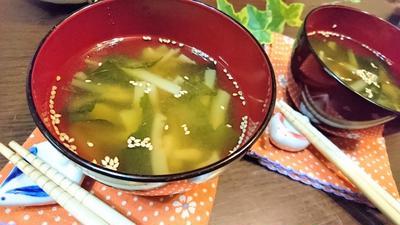 【レシピ】節約★無駄なく活用【ブロッコリーの茎とワカメの味噌汁】