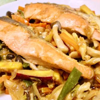 【レポ】出張個人レッスン/たっぷり野菜と 旬の秋鮭味噌蒸し焼き