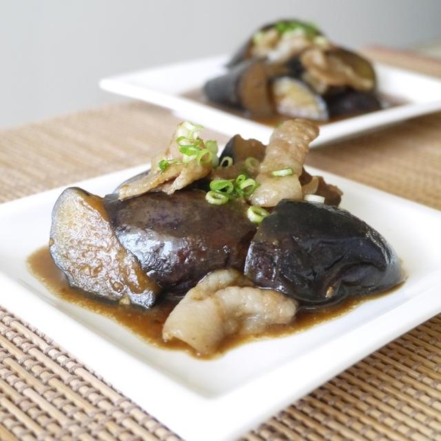 茄子と豚バラ肉の甘味噌炒め煮
