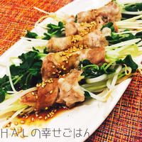 レンジで簡単!野菜の肉巻き