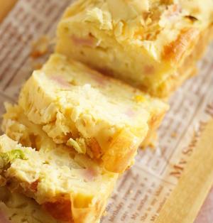キャベツとコーンとチーズのケークサレ