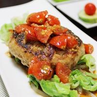 ズッキーニ。~肉好きもダマせる❤豆腐ハンバーグうま辛トマトソース~