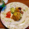 高菜とズッキーニのカレーチャーハン