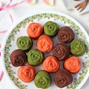 一度に3種カラフルバラのマドレーヌ♪cotta母の日お菓子特集で紹介