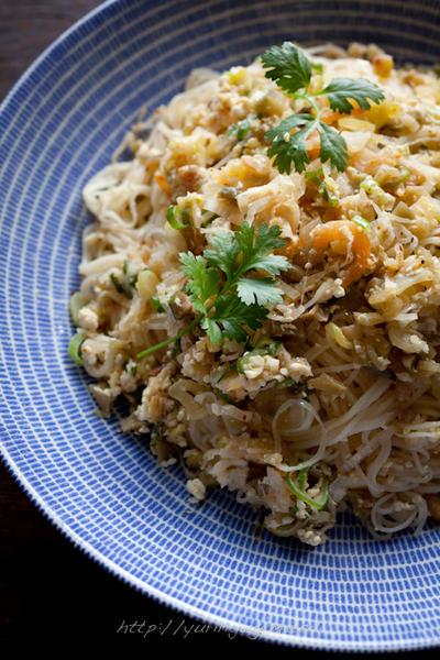 素麺のアジア風炒め