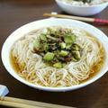 【簡単レシピ】香味野菜の梅肉和えde爽やか素麺♪ by bvividさん