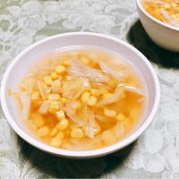 キャベツとコーンのもりもりスープ