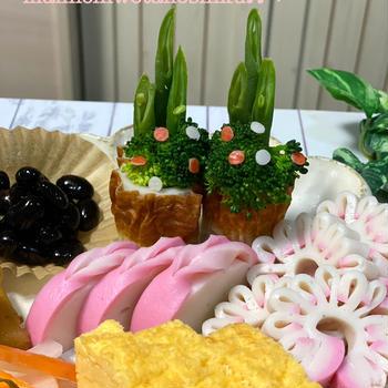 *あけましておめでとうございます✨ちくわ門松とカマボコの飾り切り✨今年もよろしくお願いします*