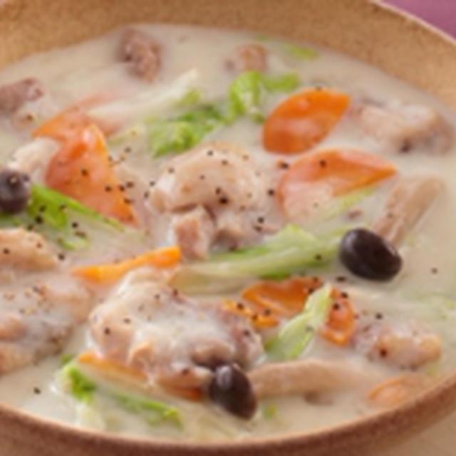白菜と鶏肉のクリーム煮 @ 今宵の肴