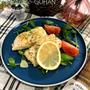 簡単!!白身魚のガーリックレモンバターソテー。