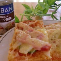 「ちょっとリッチ感なピザトースト」*GABAN味付塩コショー スモーク風味