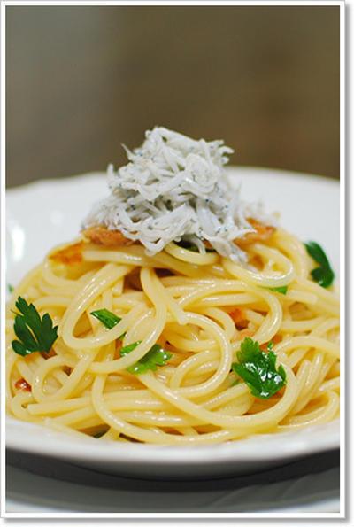 コラトゥーラとしらすの冷製スパゲッティ