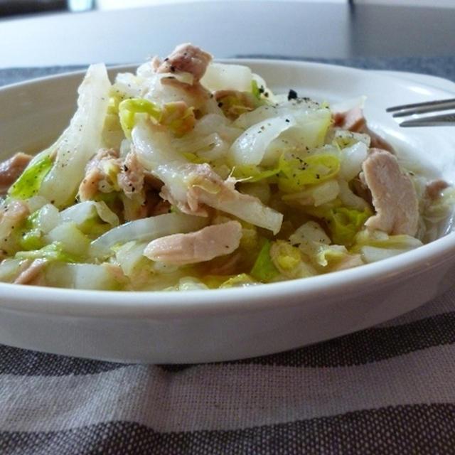 白菜とツナのシンプルソテー♪