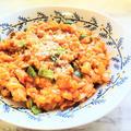 おなか満足♡『オートミールで!鶏肉と玉ねぎのトマトリゾット』のレシピ【オートミールで腸活♡⑤】