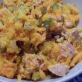 人参と塩漬け発酵胡瓜とツナ缶サラダ