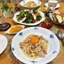 カルボナーラ♪と梅まつり&蕎麦ランチ。