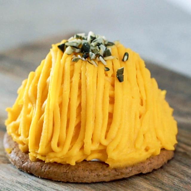 オーブンなし 口金なし 簡単かぼちゃのモンブランの作り方